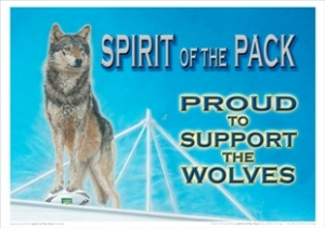 A3 Poster - Proud to Support the Wolves